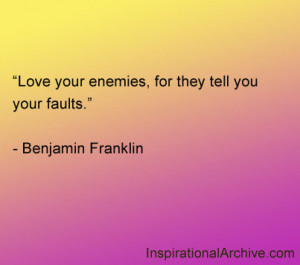Love Your Enemies For...