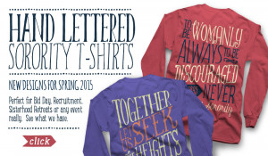 Sorority Hand Lettered T-shirts