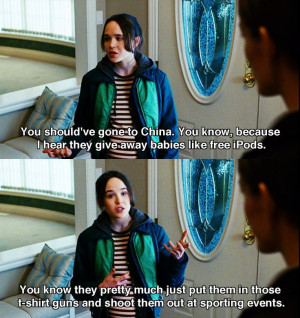 Ha ha ha!! Love this line about China :D Juno (2007) Movie Quotes # ...