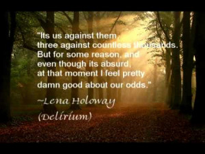 Quote from DELIRIUM by @OliverBooks. Join the Resistance! www.facebook ...