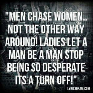 A woman a when man chases Here's Why
