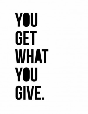 you get what you give   #OpEleanor