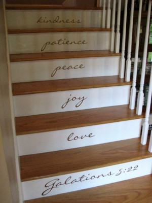 Decorating Your Stairs with Quote Decals