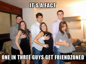 out of 3 guys are friendzone