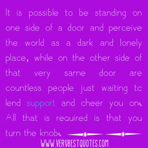 countless people just waiting to lend support and cheer you on quotes