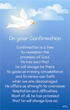 Confirmation Blessings | confirmation prayer More