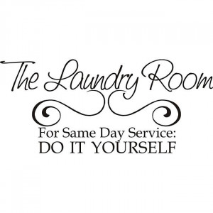 Add some fun to your walls with this laundry room vinyl wall art. This ...