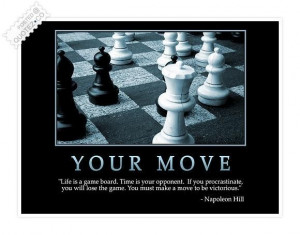 Life is a game board quote