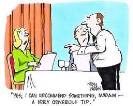 National Humor Month Funny Short Waiter Joke