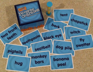 Fun words for kids to try to act out and guess.