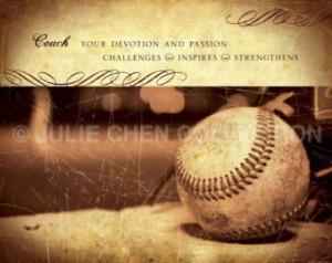 - Baseball Art - Baseball Coach Keepsake - Baseball Coach Thank You ...