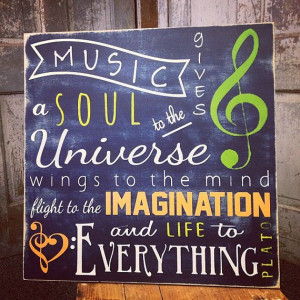 Inspirational Quote Music Gives a Soul Sign, Plato Quote Personalized ...