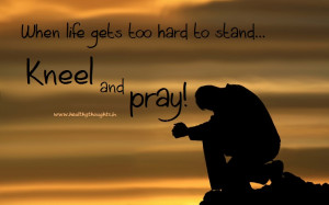 When life gets too hard to stand…