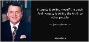 integrity is telling myself the truth and honesty is telling the truth ...