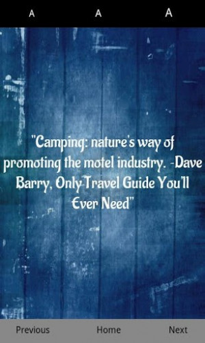 View bigger - Camping Quotes for Android screenshot