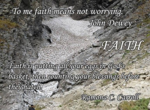 Faith Is Putting All Your Eggs In God's Basket ~ Faith Quote