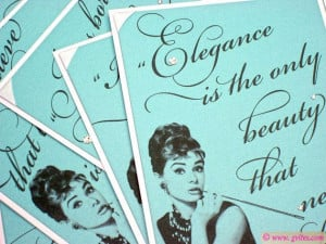 Breakfast at Tiffany's Quote Table Signs Tiffany Blue by Gvites, $7.50