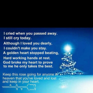 To my guardian angel, rip dad