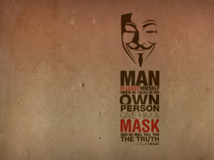 minimalistic text quotes typography masks oscar wilde guy fawkes ...