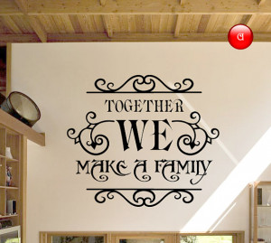 Wall murals, family wall decals quotes, wall quote stickers
