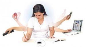 Multitasking Woman Gif
