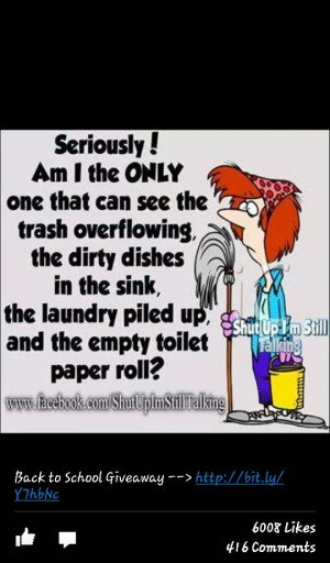 hate cleaning up after grownups