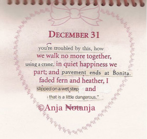 Calendar of Altered Quotes by Notanja