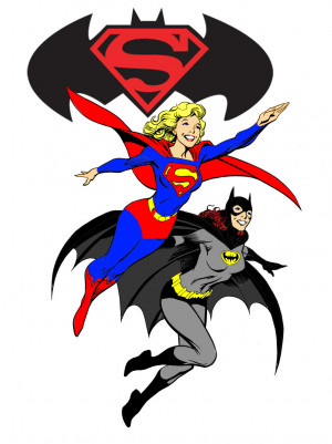 Supergirl and Batgirl in action Image