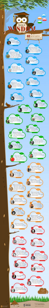 40 Great Quotes about Friendship, Life, Love and Success Infographic
