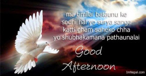 Good Afternoon SMS in Nepalese Language
