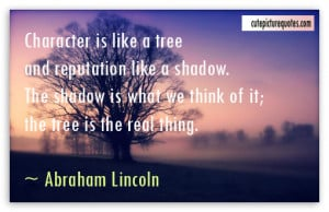 Lincoln character power quote