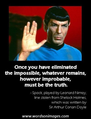 Star Trek Mr Spock Quotes