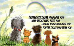 appreciate help forgive forget