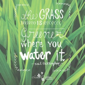 The grass isn't always greener on the other side!