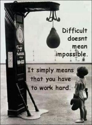 Work harder!!