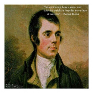 Robert Burns & Famous Suspicion Quote Poster Print
