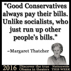 Margaret Thatcher quote about socialism and conservatism