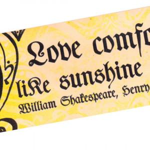 Love Comforteth - Shakespeare Love Bookmark - Quote on Leather