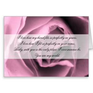 Vintage Inspired Romance Rose Quote Card Greeting Card
