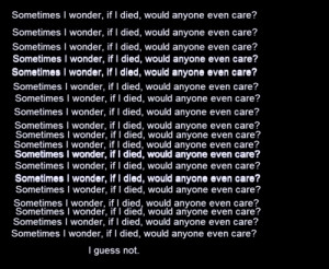 quote depression sad suicidal suicide self harm cuts scars burns