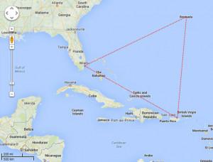 Bermuda Triangle Map Scale