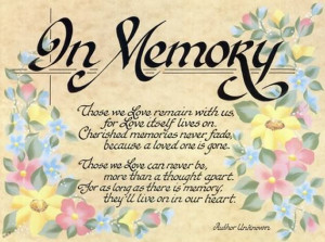 All Graphics » memorial loved ones