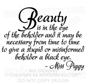ebayimg com t miss piggy beauty quote vinyl wall quote decal bedroom ...