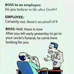 Funny Jokes - Life After Death - Boss Employee Jokes- Best Jokes