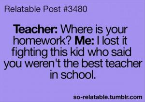 funny homework excuses