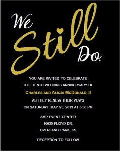 Wedding Vow Renewal Invitation