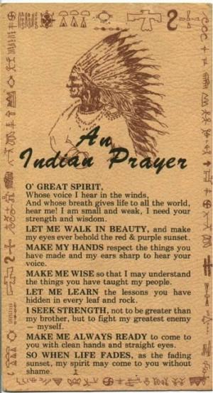Native American prayer by Sacagawea