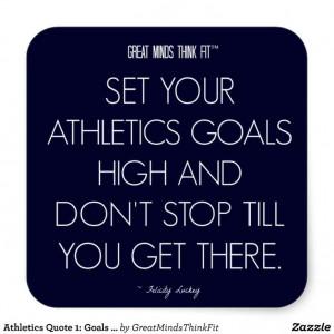 Athletics #Quote 1: Goals for Success #Sticker