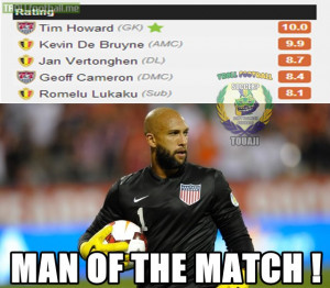 Tim Howard V Belgium