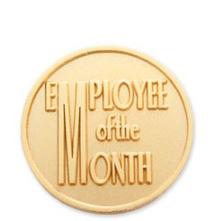 Employee of the Month Stock Lapel Pin with military clutch